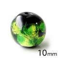 ホタルガラス ライトグリーン 10mm 粒売り 1粒 とんぼ玉 緑色 沖縄 お土産