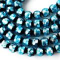 卸販売 ホタルガラス 一連 ビーズ 12mm 34粒 ライトブルー 水色 とんぼ玉 沖縄 大人気 お土産