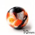 ホタルガラス オレンジ 10mm 粒売り 1粒 とんぼ玉 橙色 沖縄 お土産