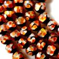 ホタルガラス 一連 ビーズ 12mm 34粒 オレンジ 橙色 とんぼ玉 沖縄 大人気 お土産