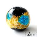 光る ホタルガラス イエロー ブルー MIX 12mm 粒売り 1粒 とんぼ石 青色 黄色 沖縄 お土産