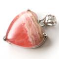 インカローズ ペンダント Silver925 くっきり縞模様 天然石 パワーストーン 恋愛運