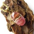 チョコレート インカローズ ペンダント 縞模様 1点物 Silver925 天然石 パワーストーン