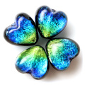 光る ケラマブルー ホタルガラス ハート型 約12 x 12 x 8mm 粒売り 1粒 とんぼ玉 沖縄 お土産