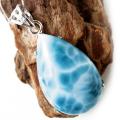 ラリマー ネックレス 天然石  ペンダント Silver925 ロイヤルクラス SSrank カリブ海を連想させるスカイブルー ドミニカ産