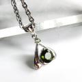 宝石質5A Silver925使用 モルダバイトペンダント