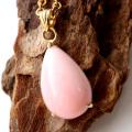 ピンクオパール ペンダント Silver925 チェーン付き 天然石