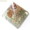 ベリル使用 水晶単結晶入り オルゴナイトピラミッド 大人気スピリチュアルグッズ 幅約65-70mm前後