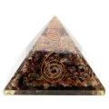 トルマリン使用 水晶単結晶入り オルゴナイトピラミッド 大人気スピリチュアルグッズ 幅約65-70mm前後