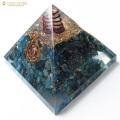 アパタイト使用 水晶単結晶入り オルゴナイトピラミッド 大人気スピリチュアルグッズ 幅約65-70mm前後