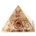 メノウ使用 瑪瑙 アゲート 水晶単結晶入り オルゴナイトピラミッド 大人気スピリチュアルグッズ 幅約65-70mm前後