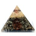 北海道産 ブラックシリカ 使用 水晶単結晶入り オルゴナイト ピラミッド 大人気スピリチュアルグッズ 幅約65-70mm前後 母の日