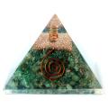 グリーンジャスパー 使用 水晶単結晶入り オルゴナイト ピラミッド 大人気スピリチュアルグッズ 幅約65-70mm前後 母の日