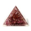 ルビー使用 オルゴナイトピラミッド 大人気スピリチュアルグッズ 幅約45mm前後