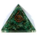 グリーンジャスパー オルゴナイトピラミッド 大人気スピリチュアルグッズ 幅約55mm前後