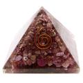 ルビー オルゴナイトピラミッド 大人気スピリチュアルグッズ 幅約55mm前後
