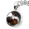 パラサイト隕石 ネックレス 石鉄隕石 ケニア産 ペンダント かんらん石 1点物