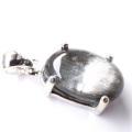 プラチナ ルチルクォーツ ペンダント Silver925 サージカルステンレス製チェーン付き