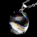 アイリスクォーツ ネックレス AAAランク 虹入り 水晶 天然石 ペンダント 高品質 SILVER925 パワーストーン