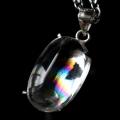 アイリスクォーツ 虹入り 水晶 ネックレス 天然石 ペンダント高品質 Silver925 チェーン付き
