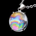 アイリスクォーツ 虹入り 水晶 ペンダント高品質 チェーン付き パワーストーン