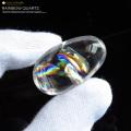 高透明 虹入り天然水晶ルース タンブル レインボー アイリスクォーツ パワーストーン 天然石