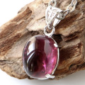 ルベライト レッドトルマリン ネックレス 天然石 ペンダント 10月 誕生石 Silver925 チェーン付き