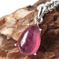 ルビー ペンダント 宝石質 SILVER925 しずく ドロップ ミャンマー産 天然石 1点物 Ruby 7月 誕生石