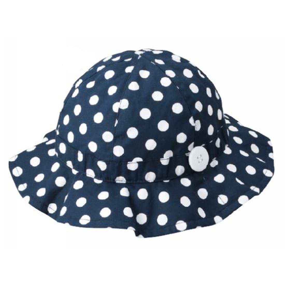 ガール帽子 水玉 46cm