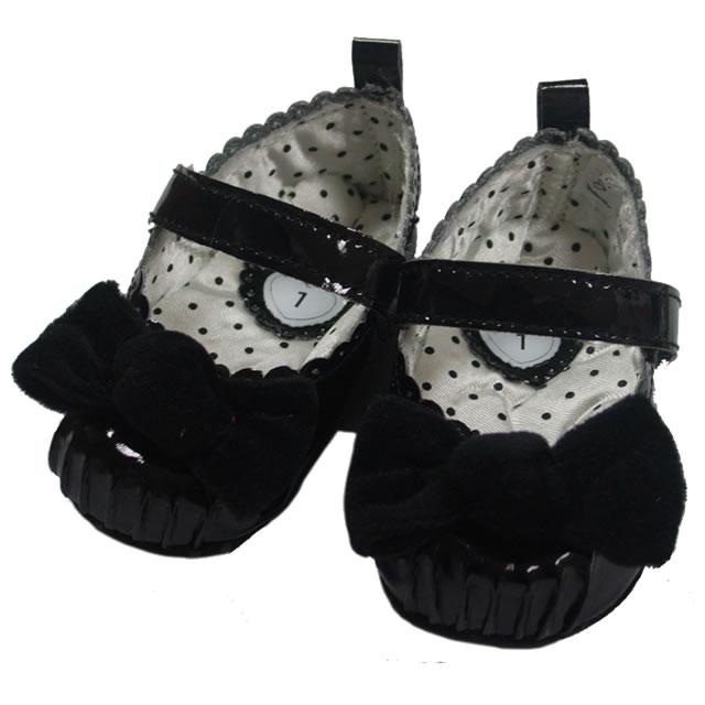 メリージェーンシューズ(ブラックリボン付) [Merry Jane Shoes, Black]
