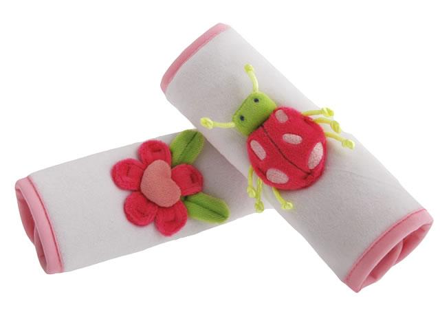 アニマル カーシート ストラップカバー(テントウ虫)[Animal Strap Cover /Flower & Ladybug]