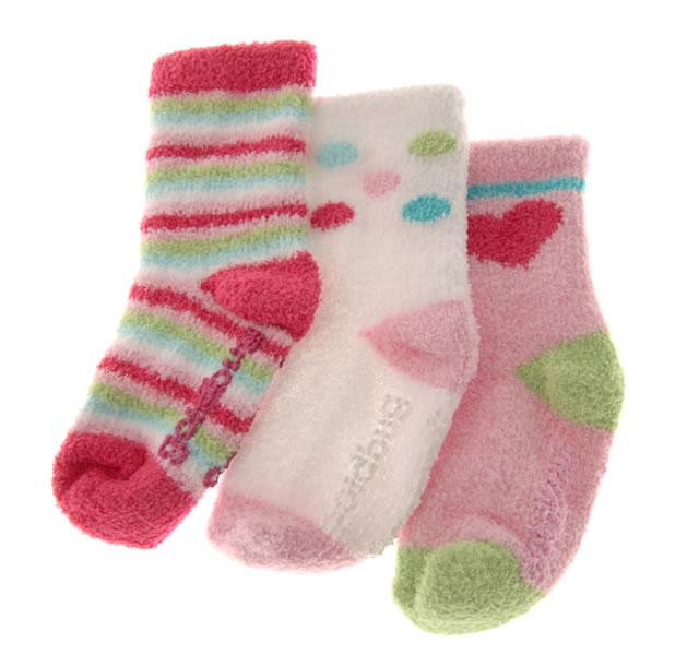 ソフトニットソックス 12〜24ヶ月用/ピンク系 (3足セット) [3 pr Socks]