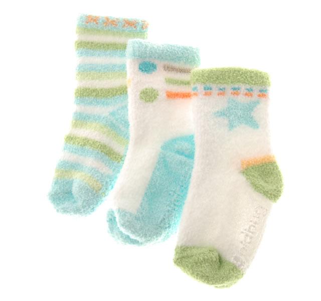 ソフトニットソックス 12〜24ヶ月用/ブルー・グリーン系 (3足セット) [3 pr Socks]