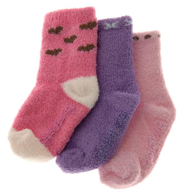 ソフトニットソックス 12〜24ヶ月用/ピンク・パープル系 (3足セット) [3 pr Socks]