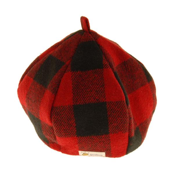 goldbug チェックベレー帽 (レッド/ブラック)