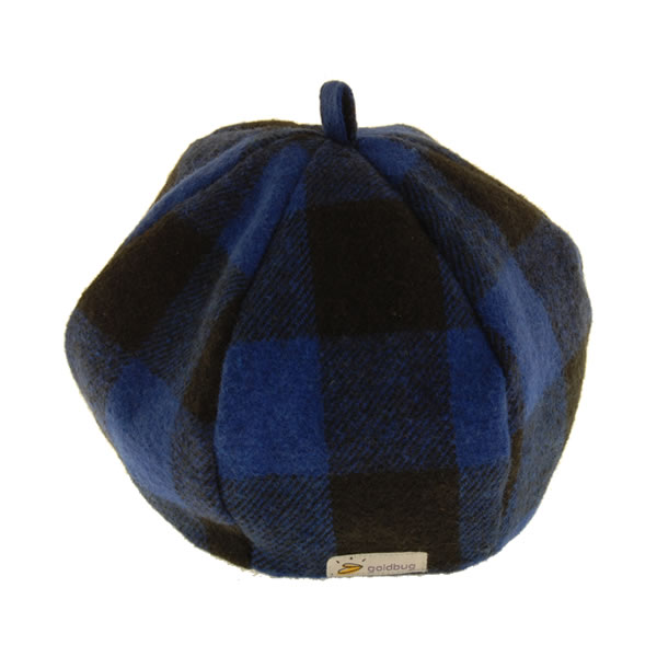 goldbug チェックベレー帽 (ブルー/ブラック)