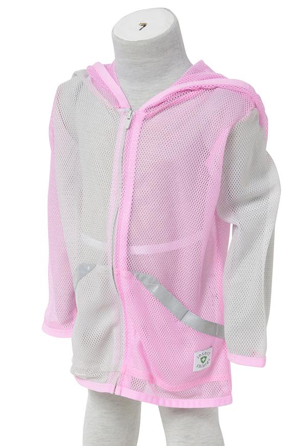 インセクトシールド (Insect Shield) 虫よけ メッシュパーカー, 女児ピンク, 80cm, ポリエステル