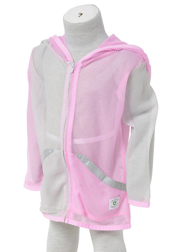 インセクトシールド (Insect Shield) 虫よけ メッシュパーカー, 女児ピンク, 95cm, ポリエステル