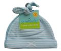 新生児用(0〜3カ月)ノット帽 2枚セット ライトブルー        (ストライプ、色無地)       ジャージ(綿100%)  item_link