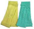 新生児からのケーブル編みレッグウォーマー2枚セット レモン&グリーン