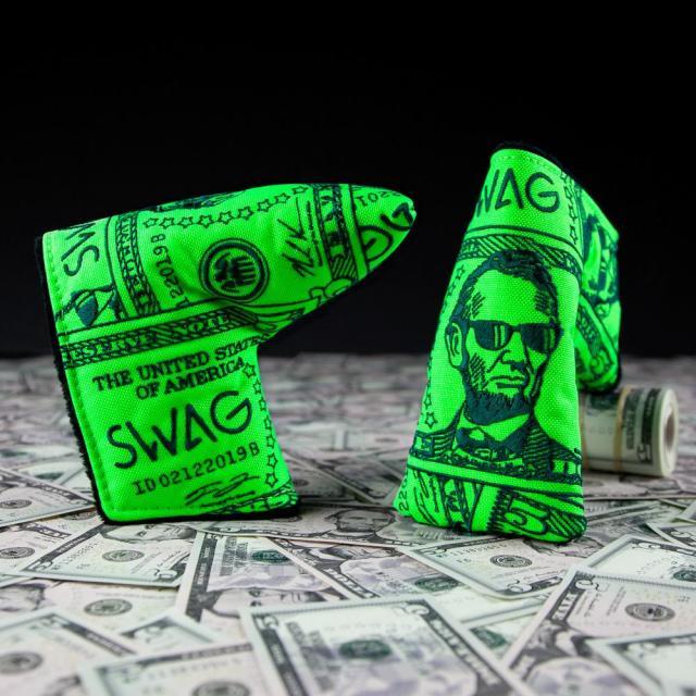 【限定】SWAG GOLF スワッグ パターカバー US $ 5 札モデル ザ・リンカーン カバー