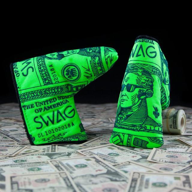 【限定】SWAG GOLF スワッグ パターカバー [限定・US $10札モデル]ザ・ハミルトン カバー