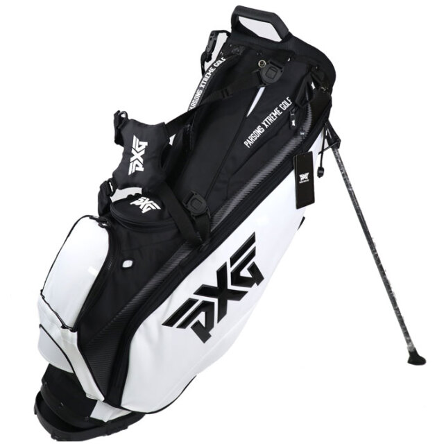 PXG 2020 Light Weight Carry Stand Bag ブラック/ホワイト