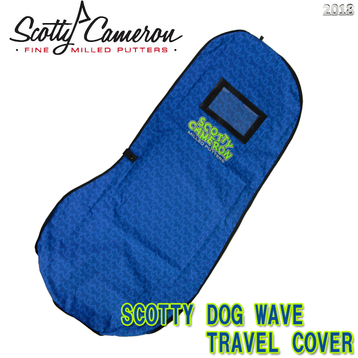 【2018 M&G 250本限定 正規品】スコッティキャメロン SCOTTY DOG WAVE トラベルカバー SCOTTY CAMERON