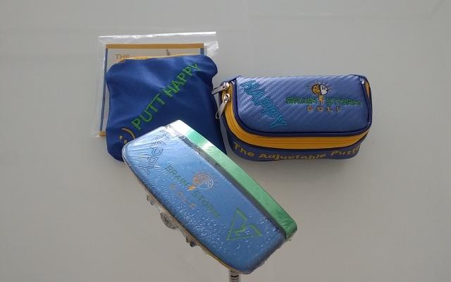 ブレインストームゴルフ ハッピーパター【HAPPY PUTTER BLADE】34インチ、ヘッドカバー、付属品付