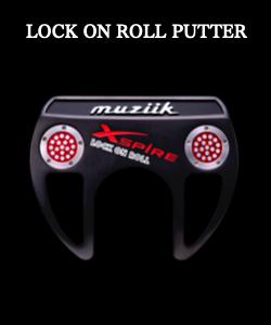 ムジーク パター【Muziik Xspire Lock on Roll  PUTTER 160gスチールシャフト グリップ バイキングメソッド】*ヘッドカバー付