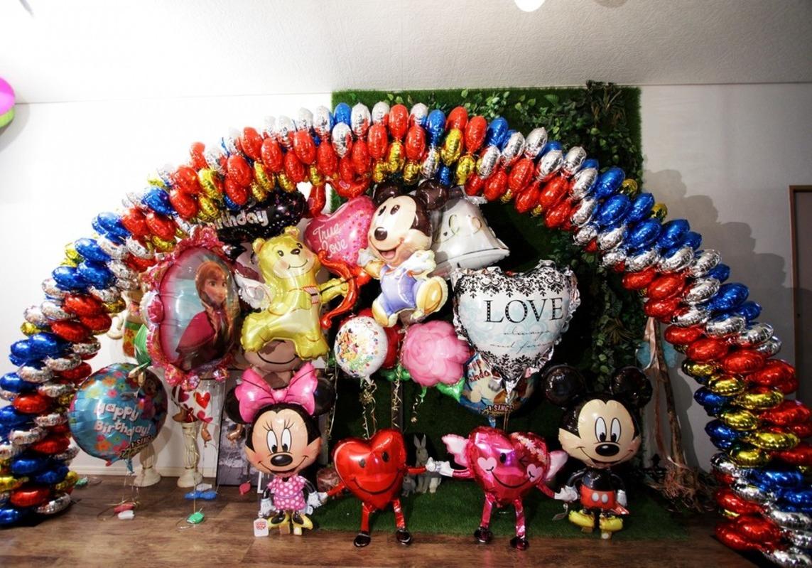 バルーンアーチ 結婚式・運動会・誕生日会の飾りつけ個人で出来ます♪