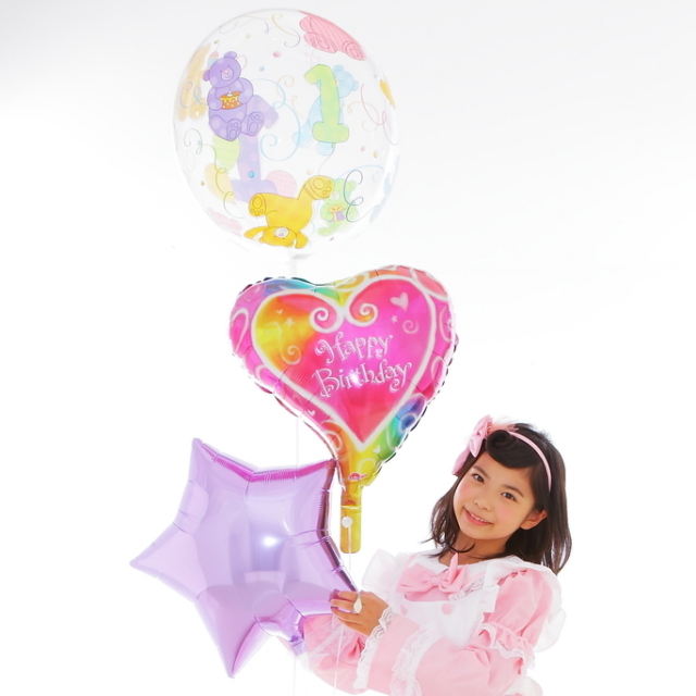 Happy Birthday1歳誕生日バルーン