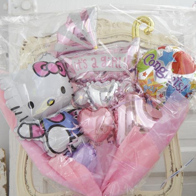 バルーンブーケ♪ご出産祝いはハローキティブーケで決まり♪