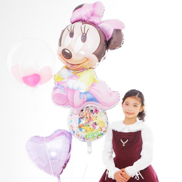 バルーンギフト電報お誕生日プレゼントディズニーミニーちゃん♪